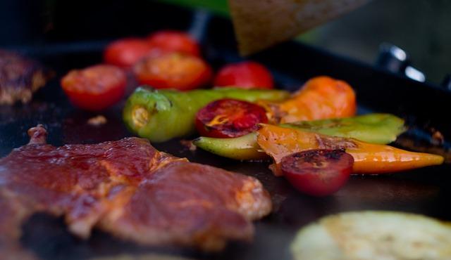 mięso i warzywa grill